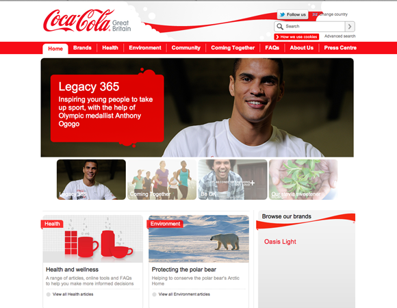 Coca Cola Website