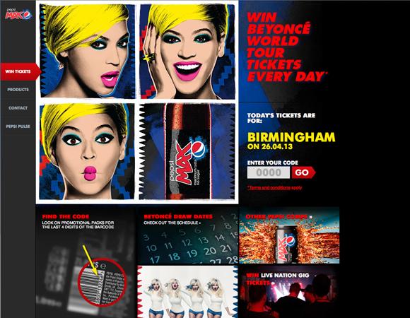 Pepsi Website