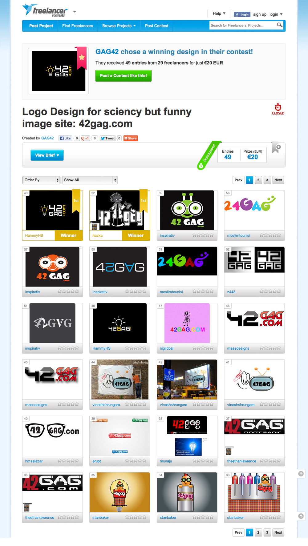 42Gag Logo Design Competition