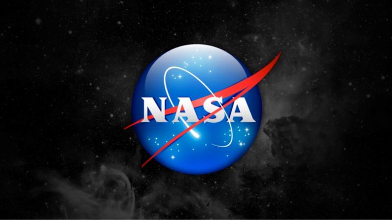 Nasa logo on space background