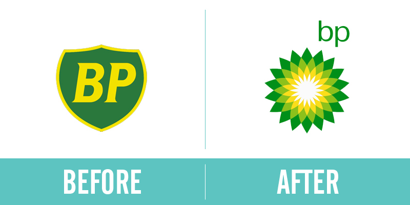 BP Rebrand Before and After