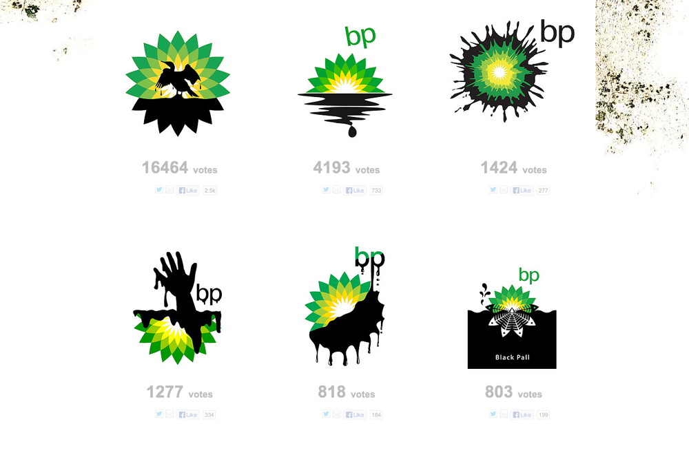 Creative BP Oil Spill Logos