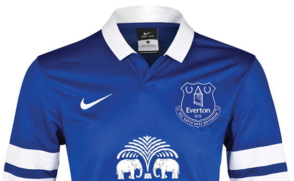 Everton FC New Football Kit with New Crest Design