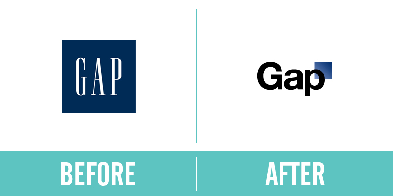 Gap Rebrand Before and After