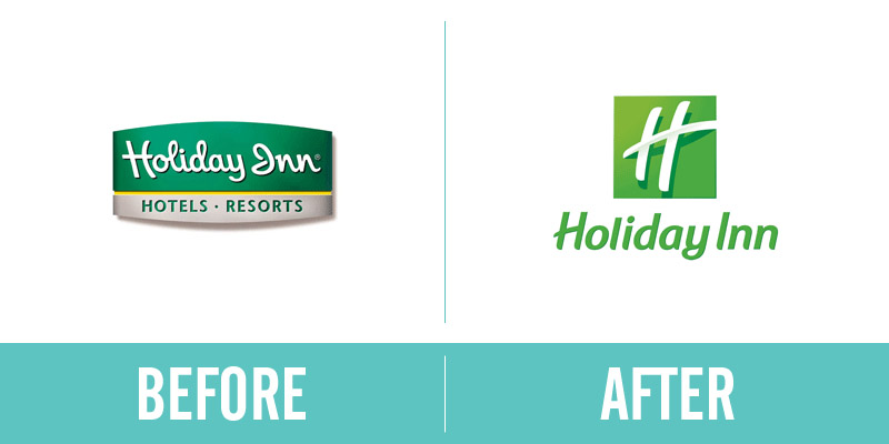 Holiday Inn Rebrand Before and After