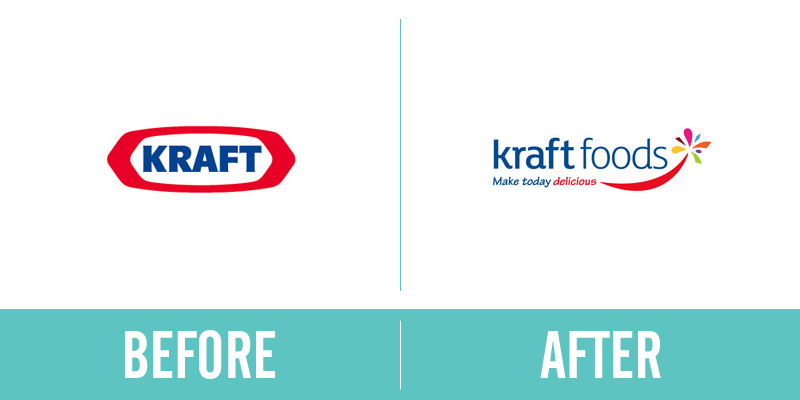 Kraft Rebrand Before and After