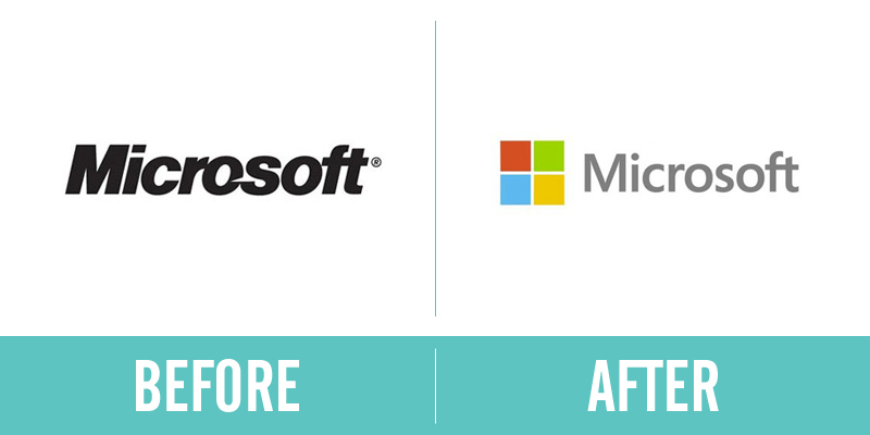 Microsoft Rebrand Before and After
