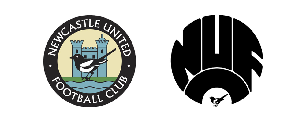 Old Newcastle United Logo Designs