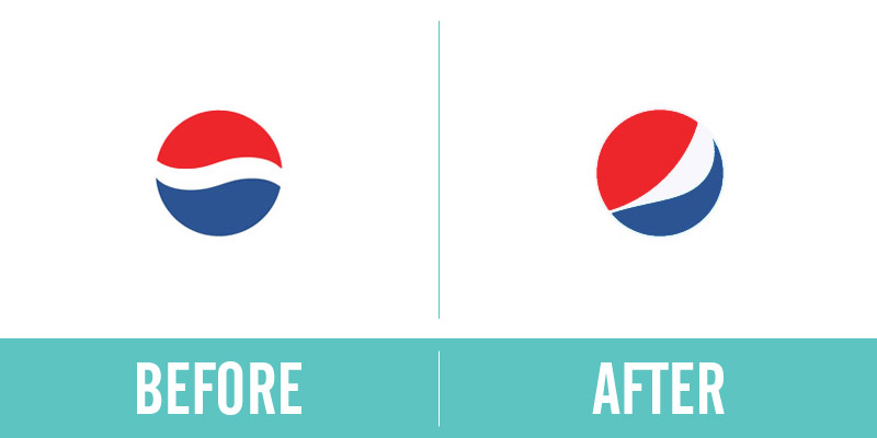 Pepsi Rebrand Before and After