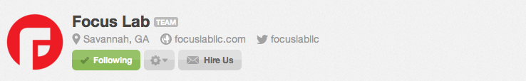 Focus Lab Hire Us Button