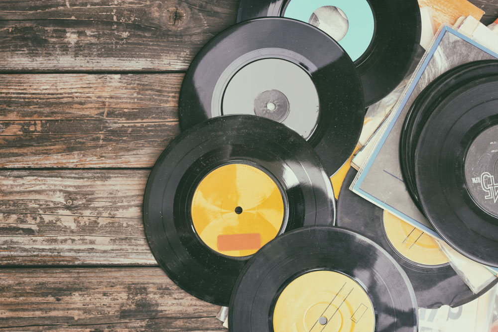 Collection of Vinyl Records - Hotel SEO