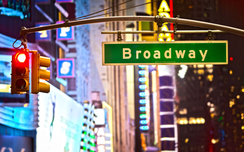 Broadway Theater District Signage in Downtown New York - Hotel SEO