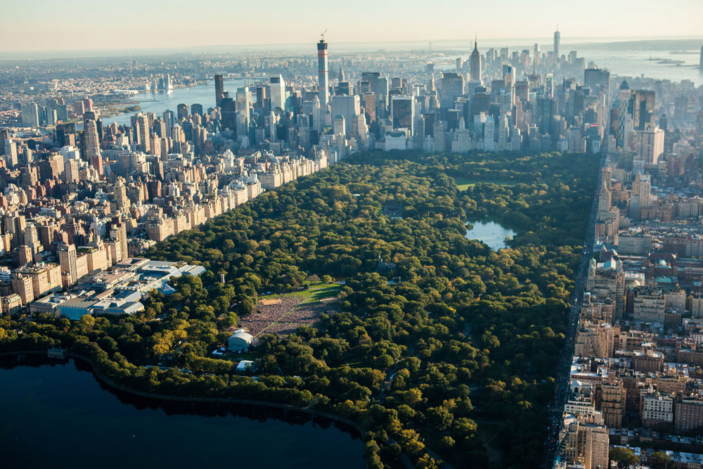 A View of New York's Central Park From Above