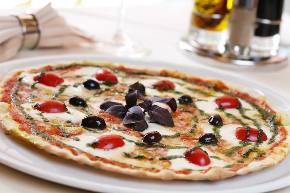 Fancy gourmet pizza