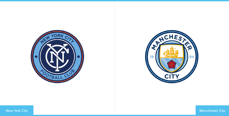 Manchester City Logo Compared to New York City Logo