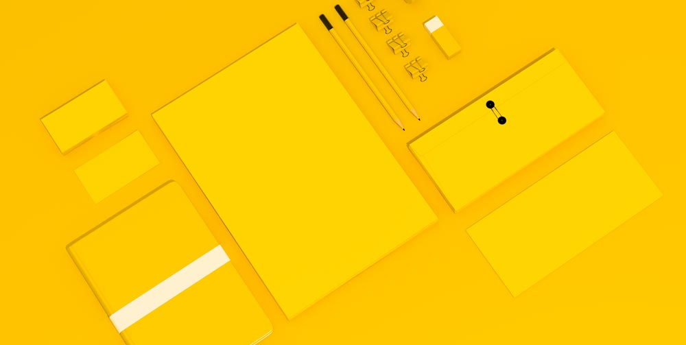 Yellow Blank Branding Collateral