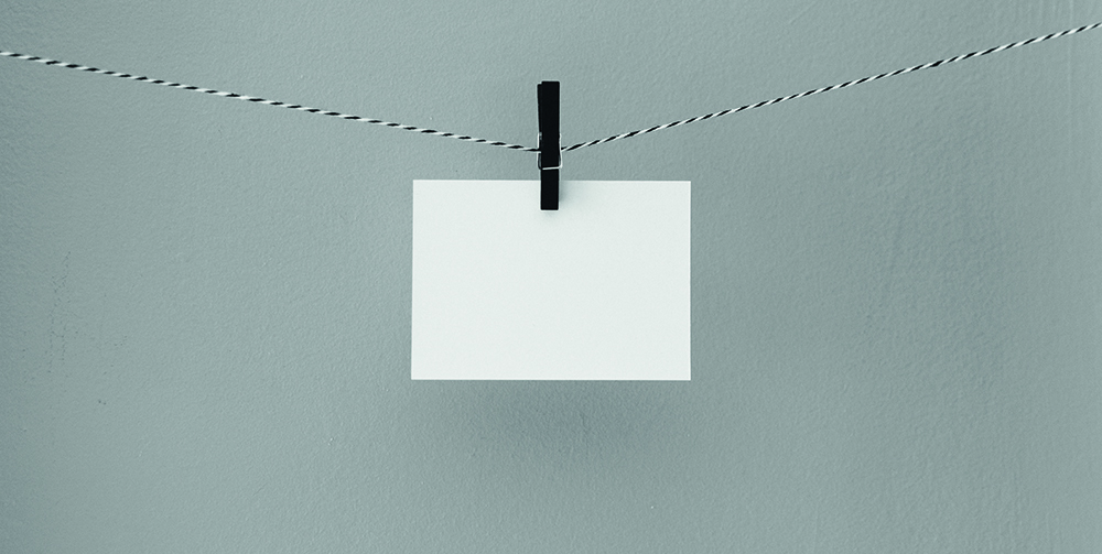 hanging post it note
