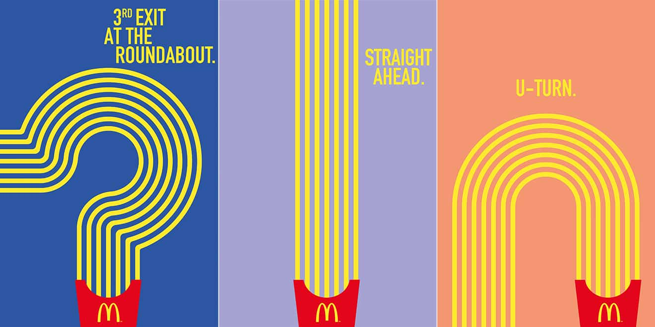 McDonalds Directional ads