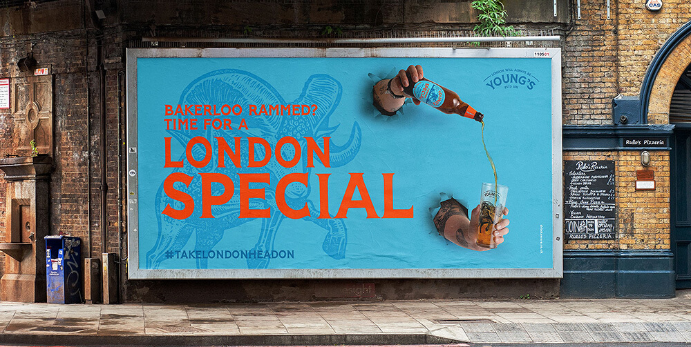 Big sign saying London special