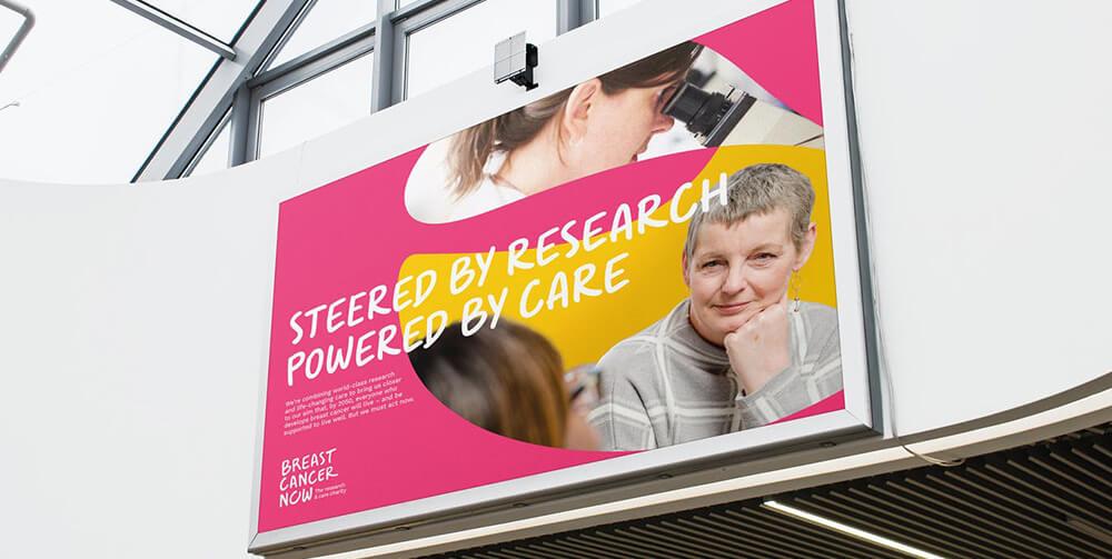 Breast cancer now billboard advertisement